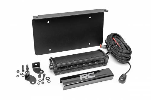 Lighting - LED & Off Road Lights - Rough Country Suspension - 70183 | 8 Inch LED License Plate Kit | Black Series