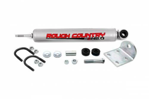 Suspension Components - Steering Stabilizers - Rough Country Suspension - 87489.20 | Ford Steering Stabilizer