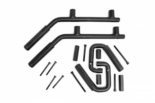 Interior - Misc Accessories - Rough Country Suspension - 6503 | Jeep Front & Rear Solid Steel Grab Handles