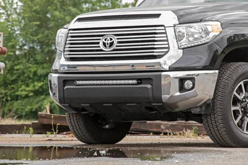 Lighting - LED & Off Road Lights - Rough Country Suspension - 70657 | 2016 Toyota Tundra 30 Inch LED Bumper Kit | Black Series