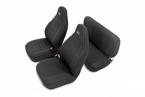 Interior - Seat Covers - Rough Country Suspension - 90010 | Jeep Neoprene Seat Cover Set