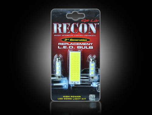 Interior - Interior Lights - Recon Truck Accessories - 264163HP | Ultra High Power LED Dome Light Replacement Kit