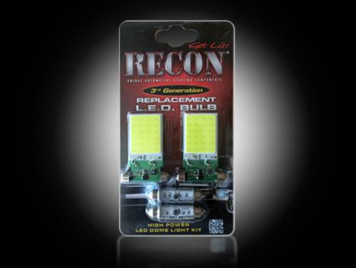 Interior - Interior Lights - Recon Truck Accessories - 264162HP | Ultra high Power LED Dome Light Replacement Kit