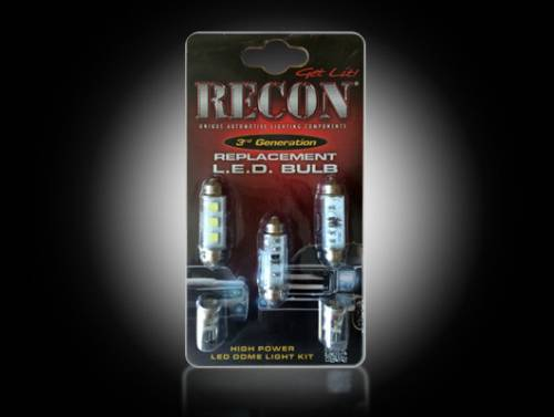 Interior - Interior Lights - Recon Truck Accessories - 264161HP | Ultra High Power LED Dome Light Replacement Kit