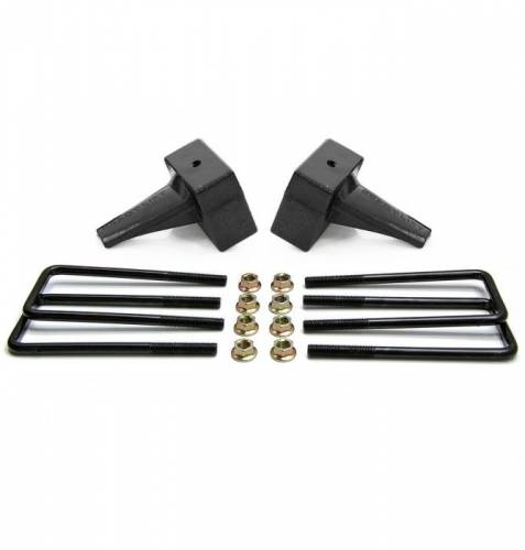 Suspension Components - Block & U Bolt Kits - ReadyLIFT Suspensions - 26-2104 | 4 Inch Ford Rear Block & U Bolt Kit