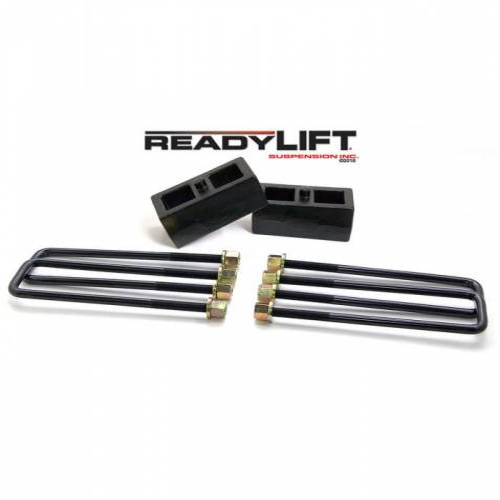 ReadyLIFT Suspensions - 66-3112 | 2 Inch GM Rear Block & U Bolt Kit