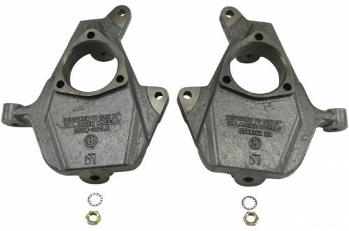 Suspension Components - Spindles, Ball Joints, I Beams - Belltech Suspension - 2508 | 2 Inch GM Drop Spindle Set