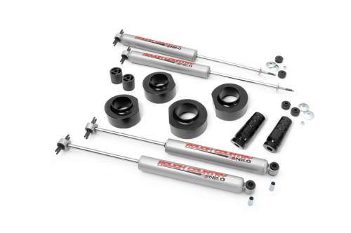 Suspension - Suspension Lift Kits - Rough Country Suspension - 65030 | 1.5 Inch Jeep Suspension Lift Kit | with Shocks