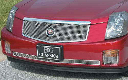 Exterior - Mesh & Wire Grilles - E&G Classics - 2003-2007 Cadillac CTS Classic Fine Mesh Upper Grille