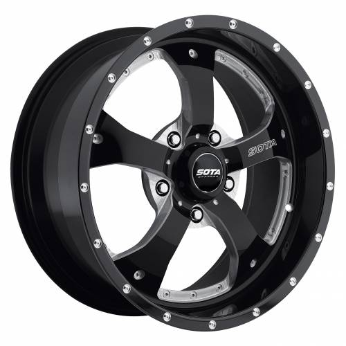 Wheels - SOTA Offroad - SOTA Offroad - 17X9 Novakane Death Metal Black 5X5, -12mm