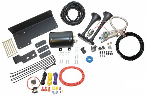 Spotlight Products - New Products - Klein Air Horns - JEEPKIT-1 | TrailBlaster Bolt-On Dual Air Horn Kit
