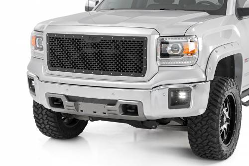 Exterior - Mesh & Wire Grilles - Rough Country Suspension - 70188 | GMC Mesh Grille