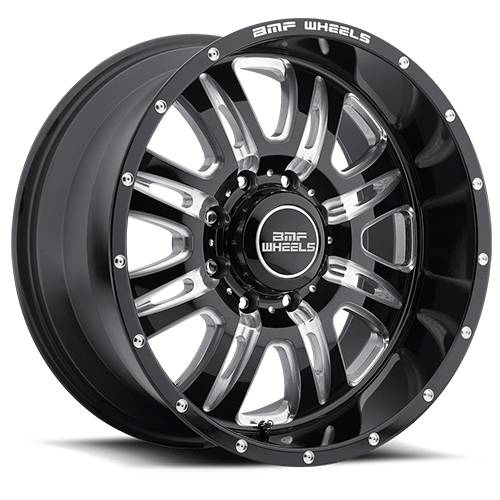 Wheels - BMF Wheels - BMF Wheels - 464B-090816500 | 20X9 REHAB Death Metal 8x6.5, 0mm