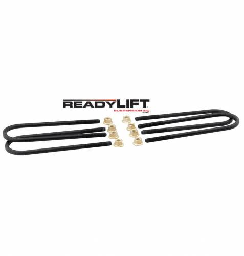 Suspension Components - Block & U Bolt Kits - ReadyLIFT Suspensions - 67-2195UB | Ford U Bolt Kit (390mm)