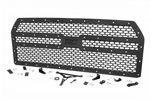 Exterior - Custom Grilles - Rough Country Suspension - 70191 | Ford Mesh Grille