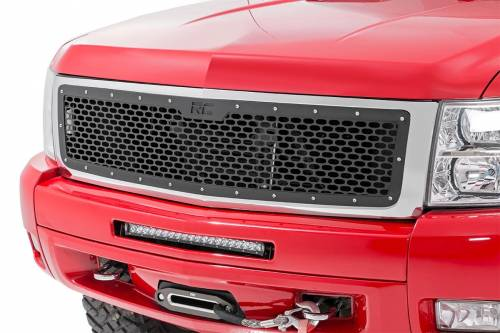 Exterior - Custom Grilles - Rough Country Suspension - 70194 | Chevrolet Mesh Grille