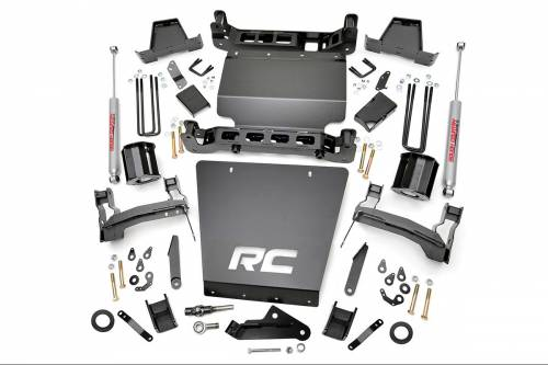 Suspension - Suspension Lift Kits - Rough Country Suspension - 17320 | 7 Inch GM Suspension Lift Kit, Bracket Kit (Stock Stamped Steel Control Arms)