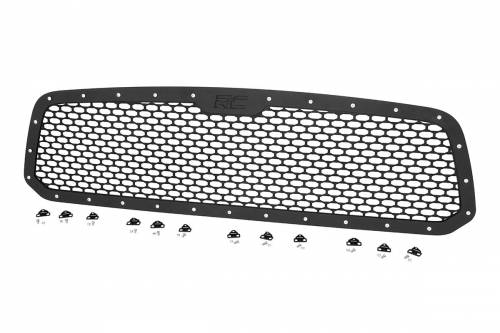 Exterior - Custom Grilles - Rough Country Suspension - 70197 | Dodge Mesh Grille
