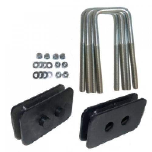 Suspension Components - Block & U Bolt Kits - Traxda - 105018 | 1 Inch Ford Rear Block & U Bolt Kit