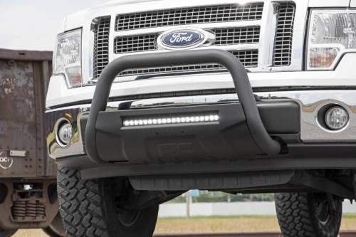 Rough Country Suspension - B-F4041 | Ford Black Bull Bar with 20 Inch LED Light Bar - Image 3