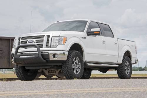 Rough Country Suspension - B-F4041 | Ford Black Bull Bar with 20 Inch LED Light Bar - Image 5