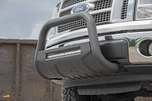 Rough Country Suspension - B-F4041 | Ford Black Bull Bar with 20 Inch LED Light Bar - Image 6