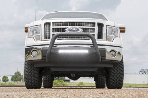 Rough Country Suspension - B-F4041 | Ford Black Bull Bar with 20 Inch LED Light Bar - Image 7