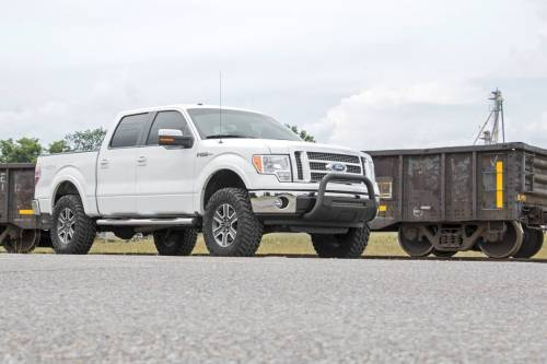 Rough Country Suspension - B-F4041 | Ford Black Bull Bar with 20 Inch LED Light Bar - Image 8