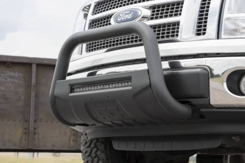 Rough Country Suspension - B-F4041 | Ford Black Bull Bar with 20 Inch LED Light Bar - Image 9