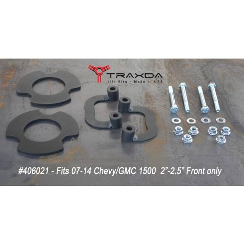 Traxda - 406021 | 2-2.25 Inch GM Front Leveling Kit