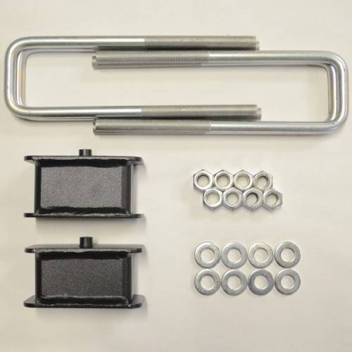 Suspension Components - Block & U Bolt Kits - Traxda - 406036 | 1 Inch GM Rear Block & U Bolt Kit