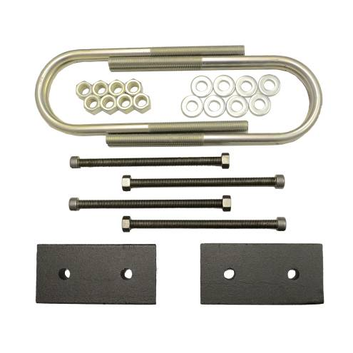 Suspension Components - Block & U Bolt Kits - Traxda - 605048 | 1 Inch Dodge Rear Block & U Bolt Kit | Diesel Engine, With Overload