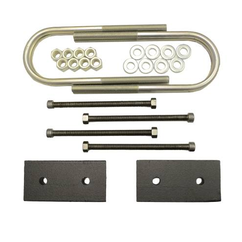 Suspension Components - Block & U Bolt Kits - Traxda - 605058 | 2 Inch Dodge Rear Block & U Bolt Kit | Diesel Engine, No Overload