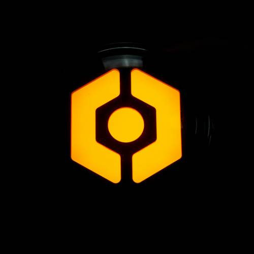 Lighting - Mirror & Marker Lights - Recon Truck Accessories - 264334BK | OLED Hexagon-Shaped Front Turn Signals | Smoked with Amber OLED