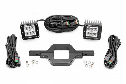 Lighting - Light & Mount Combos - Rough Country Suspension - 70686 | Hitch Mount LED Kit | Black Series