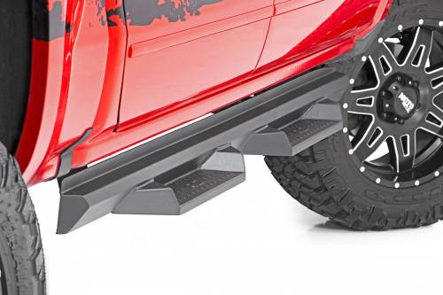Exterior - Side Steps & Running Boards - Rough Country Suspension - SDS020877A | Dodge DS2 Drop Step | Quad Cab