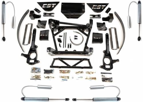 CST Suspension - CSK-C3-16-6 | GM 8-10 Inch Suspension Kit with Reservoir Shocks