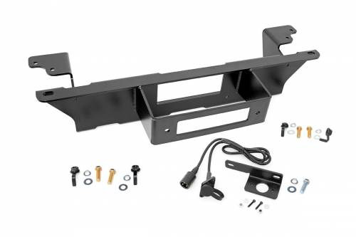 Exterior - Bumpers & Tire Carriers - Rough Country Suspension - 11002 | GM Hidden Winch Mounting Plate