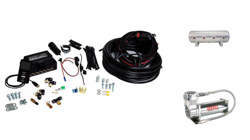 "Performance Air Suspension - Control Systems - Air Lift Performance - 27681 | 3P (1/4"" Air Line, 2.5 Gallon Lightweight Raw Aluminum Tank, VIAIR 444C Compressor)"