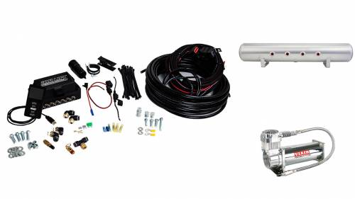 "Performance Air Suspension - Control Systems - Air Lift Performance - 27683 | 3P (1/4"" Air Line, 5 Gallon Lightweight Raw Aluminum Tank, VIAIR 444C Compressor)"