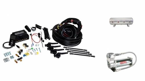 "Performance Air Suspension - Control Systems - Air Lift Performance - 27691 | 3H (1/4"" Air Line, 2.5 Gallon Lightweight Raw Aluminum Tank, VIAIR 444C Compressor)"