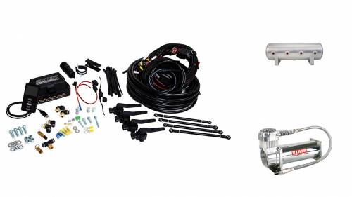 "Performance Air Suspension - Control Systems - Air Lift Performance - 27696 | 3H (3/8"" Air Line, 2.5 Gallon Lightweight Raw Aluminum Tank, VIAIR 444C Compressor)"