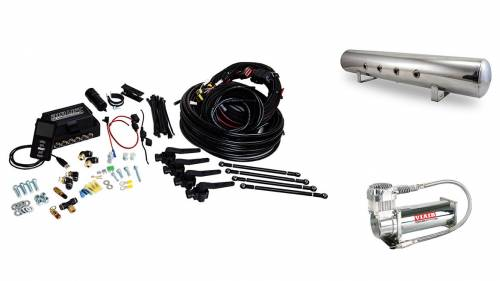 "Performance Air Suspension - Control Systems - Air Lift Performance - 27793 | 3H (1/4"" Air Line, 5 Gallon Lightweight Polished Aluminum Tank, VIAIR 444C Compressor)"