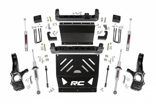 Rough Country Suspension - 24133 | 6 Inch GM Suspension Lift Kit w/ Lifted Struts, Premium N3 Shocks