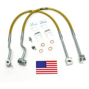 Suspension Components - Brake Lines - SuperLift - 91230 | Bullet Proof Brake Hoses | Front