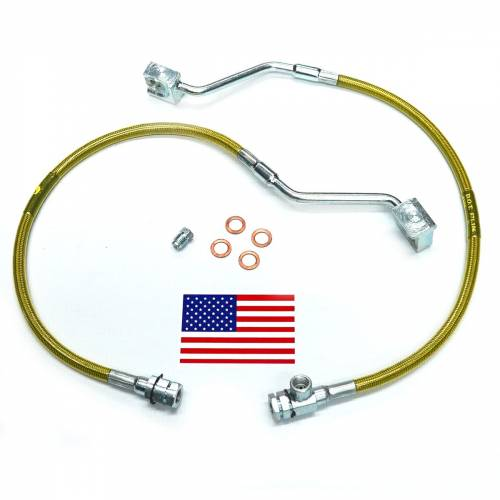 Suspension Components - Brake Lines - SuperLift - 91310 | Bullet Proof Brake Hoses | Front