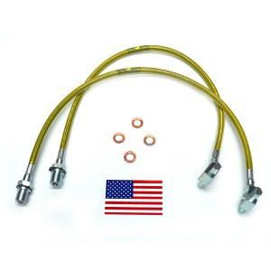 Suspension Components - Brake Lines - SuperLift - 91340 | Bullet Proof Brake Hoses | Front