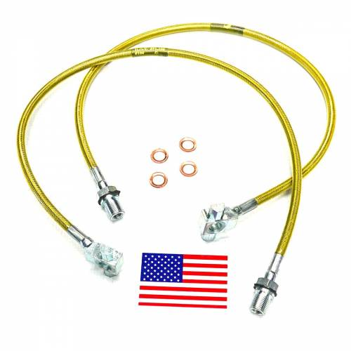 Suspension Components - Brake Lines - SuperLift - 91345 | Bullet Proof Brake Hoses | Front