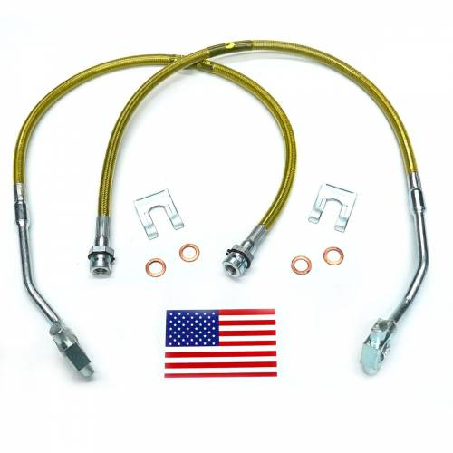 Suspension Components - Brake Lines - SuperLift - 91350 | Bullet Proof Brake Hoses | Front