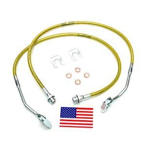 Suspension Components - Brake Lines - SuperLift - 91355 | Bullet Proof Brake Hoses | Front